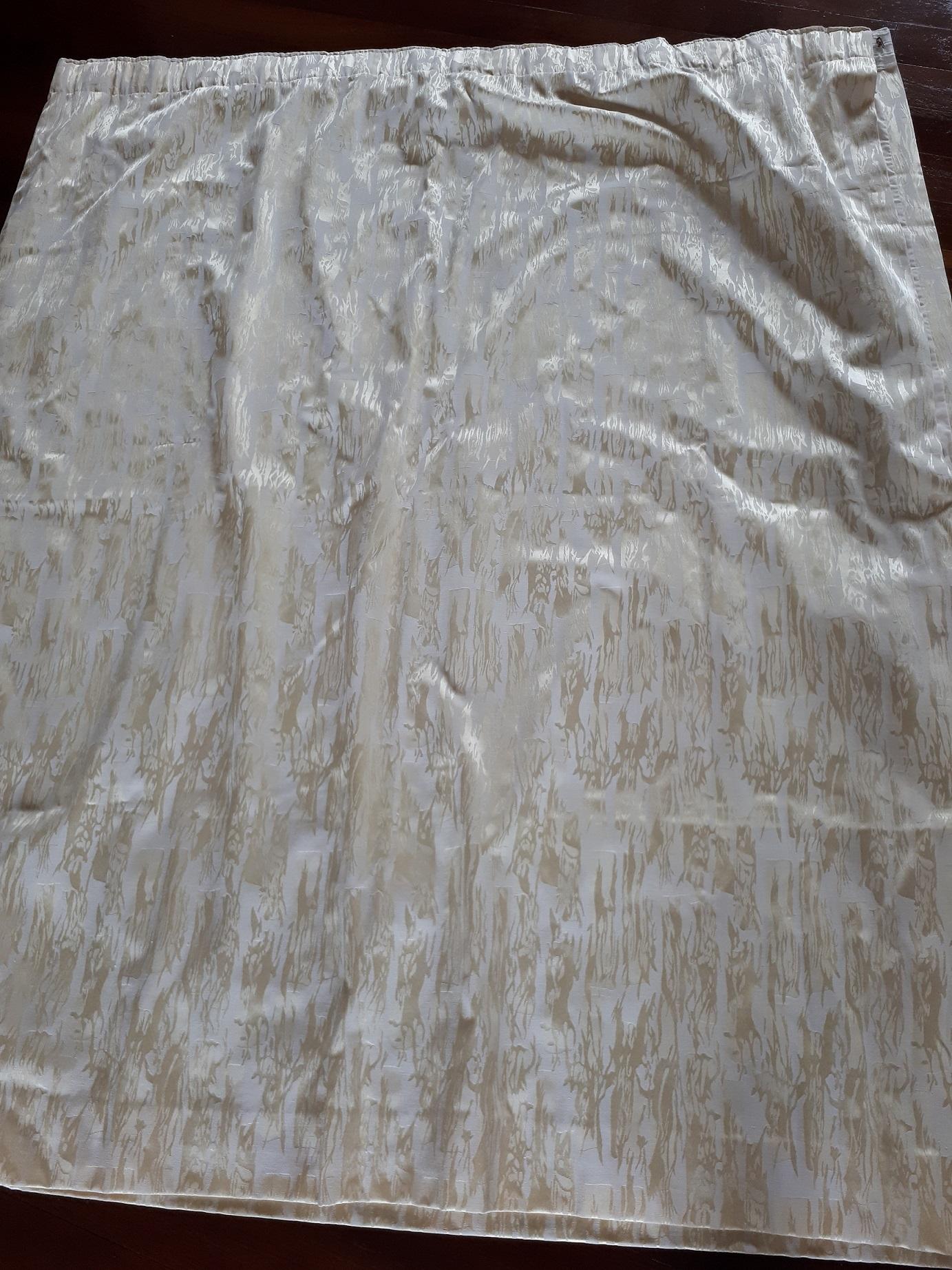 Rideaux doublés blanc écru