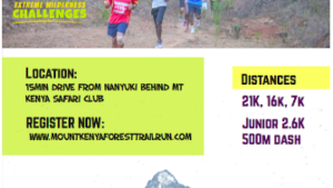 Mt Kenya Forest Trail run