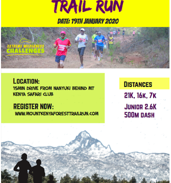 Mt Kenya Forest Trail run