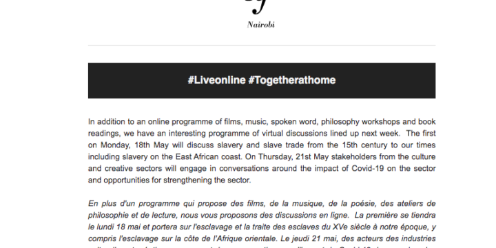 Alliance Française Nairobi Live Online